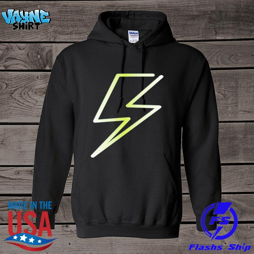 Lightning bolt print hero design s hoodie