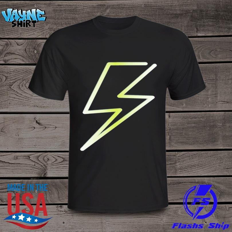 Lightning bolt print hero design shirt