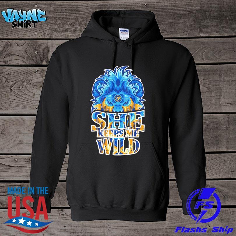 Lion she keeps me wild s hoodie