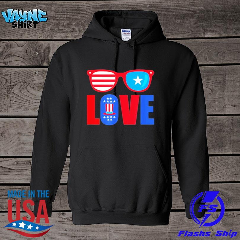 Love 4th of july usa america patriotic s hoodie