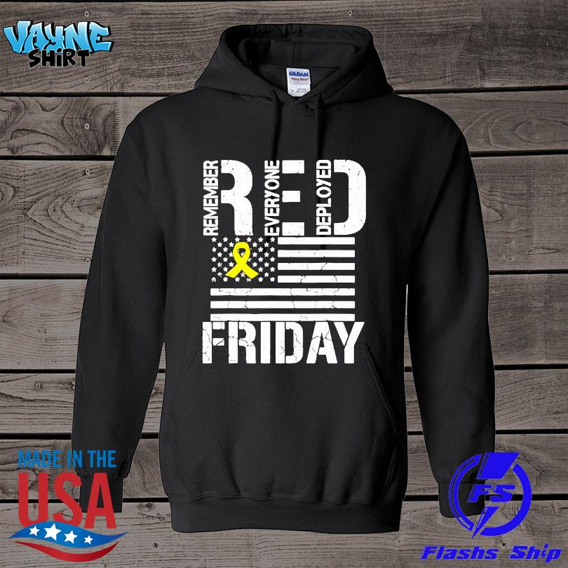 Official American flag red remember everyone deployed friday s hoodie