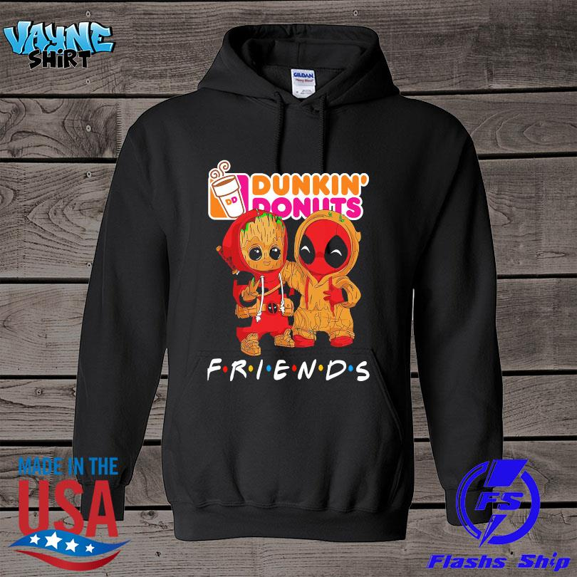 Official Baby Groot and baby Spiderman Dunkin' Donuts Friends s hoodie