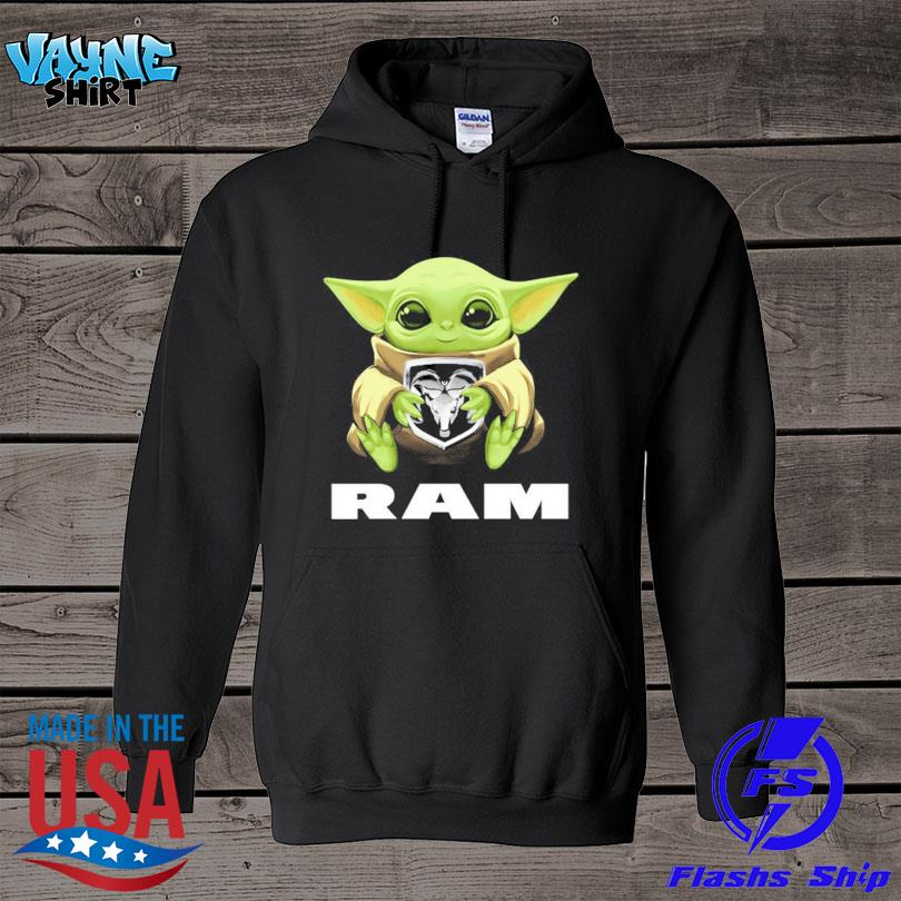 Official Baby Yoda hug Ram s hoodie
