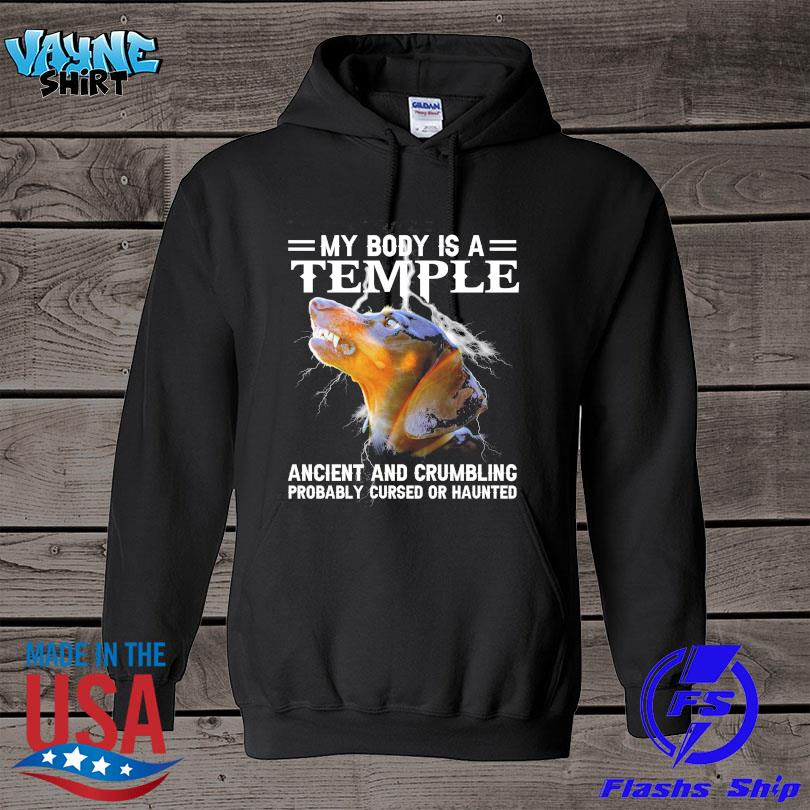 Official Dachshund my body is a temple ancient and crumbling s hoodie
