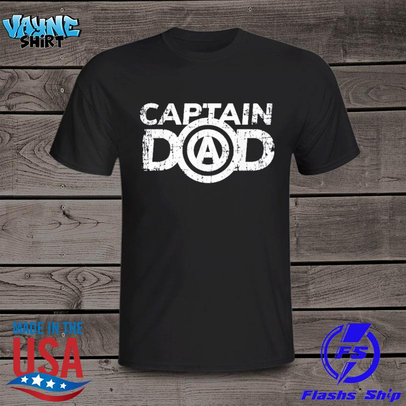 Official Distressed father's day dad's birthday gift captain dad shirt