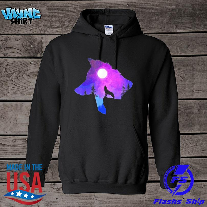 Official Howling wolf spirit animal moon indigenous native s hoodie