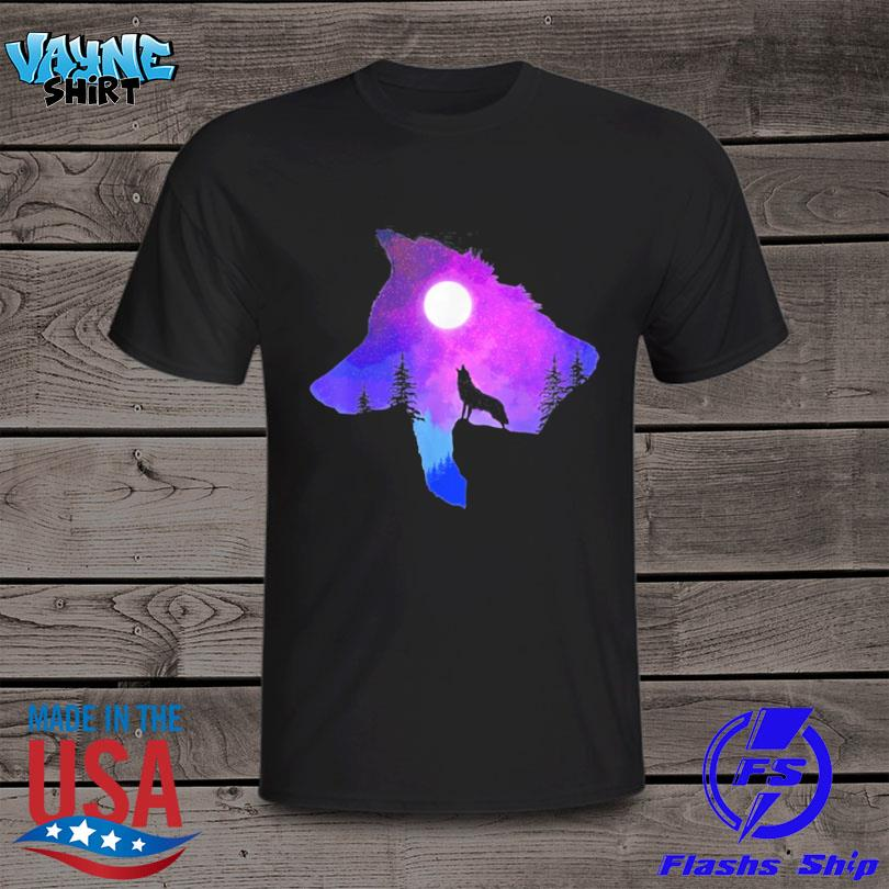 Official Howling wolf spirit animal moon indigenous native shirt