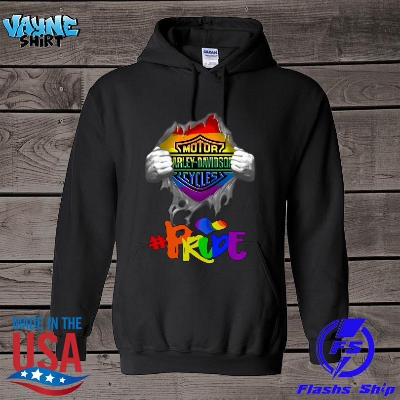 Official LGBT blood Harley Davidson Pride s hoodie