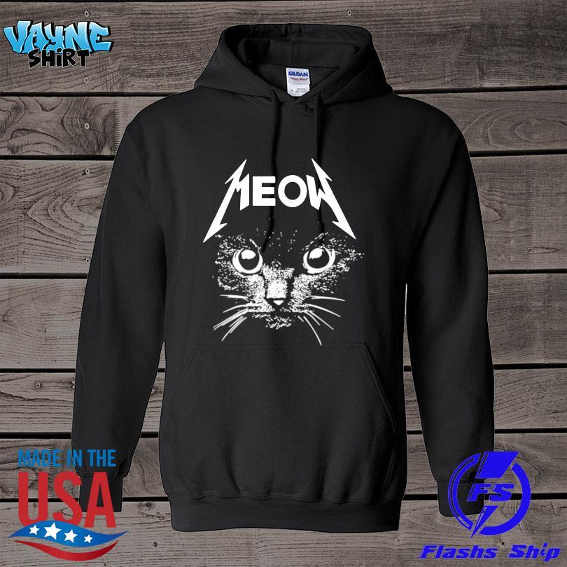 Official Metallica cat Meow s hoodie