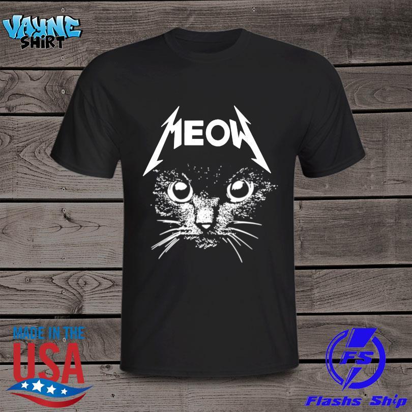 Official Metallica cat Meow shirt