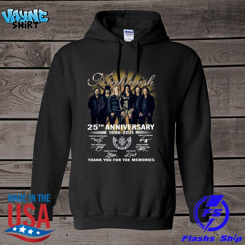 Official Nightwish 25th anniversary thank you for the memories signatures s hoodie