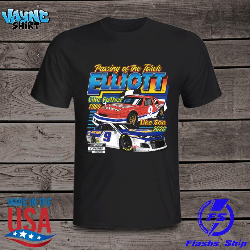 Official Passing of the torch elliott like father 1988 like son 2020 shirt
