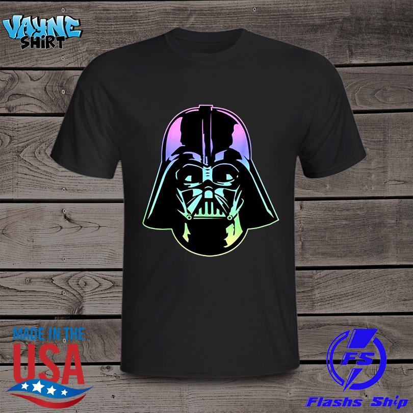 Official Star wars darth Vader head neon gradient shirt