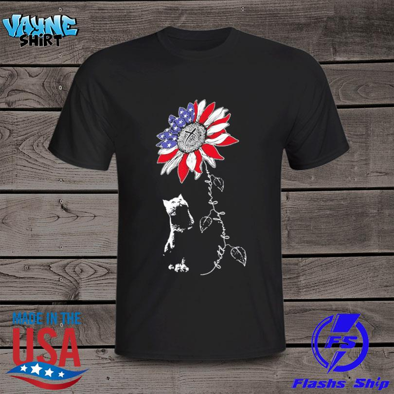 Official Sunflower 4th of july patriotic faith family freedom shirt