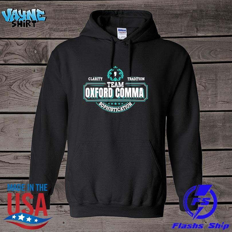 Official Team oxford comma grammar books design s hoodie