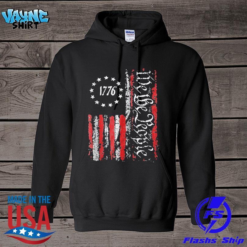 Official Vintage old American flag patriotic 1776 we the people s hoodie