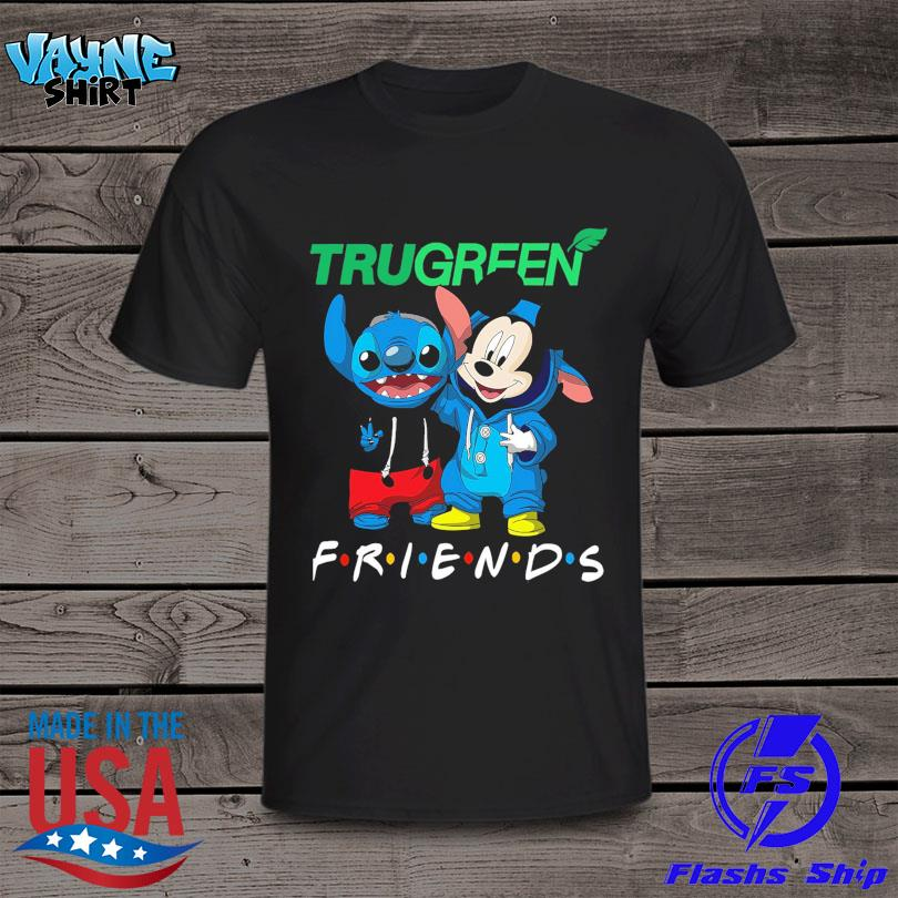 OfficialOfficial Stitch and Mickey Mouse Trugreen Friends shirt