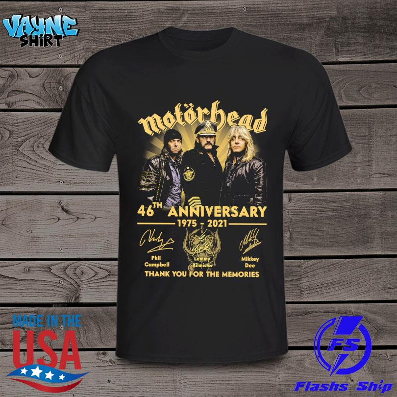 Official Motor Bead 46th anniversary 1975 2021 thank you for the memories signatures shirt