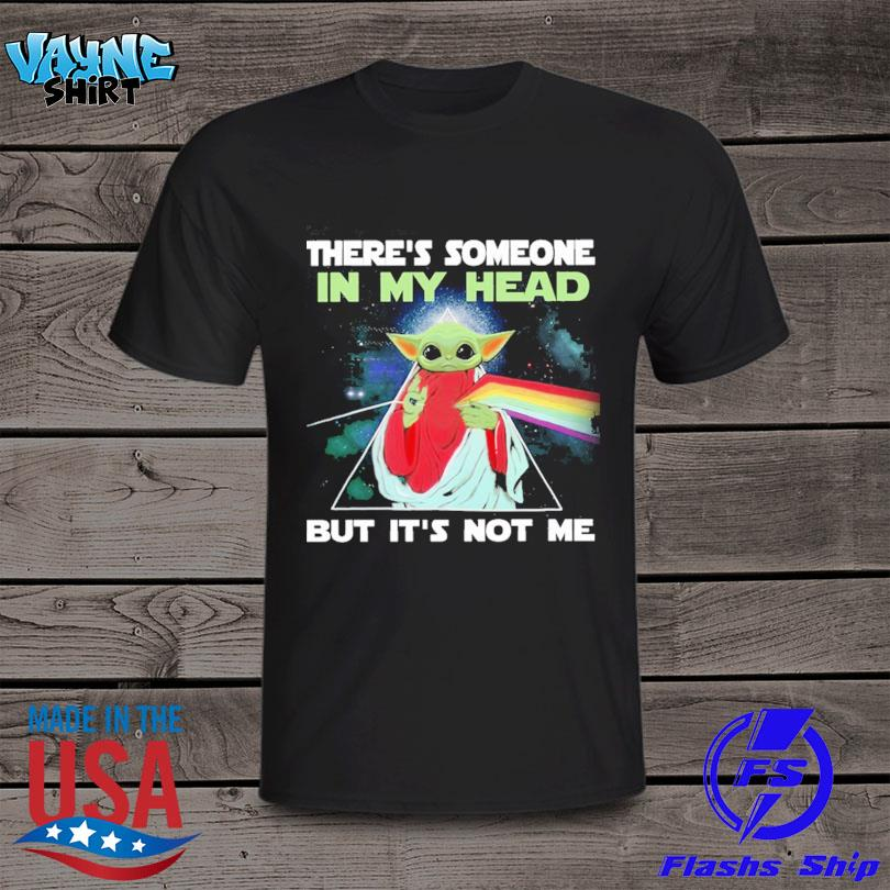 Official There's Someone In My Head But It's Not Me Baby Yoda Pink Floyd shirt