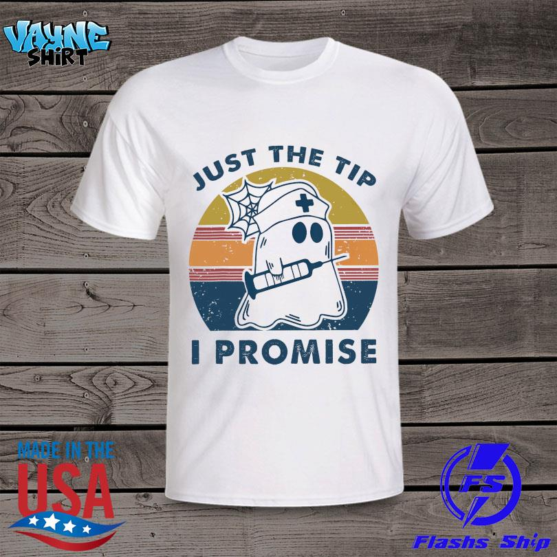 Boo Ghost Nurse just the tip I promise vintage shirt