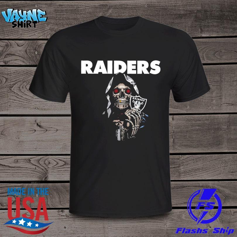 Death Oakland Raiders logo 2021 shirt