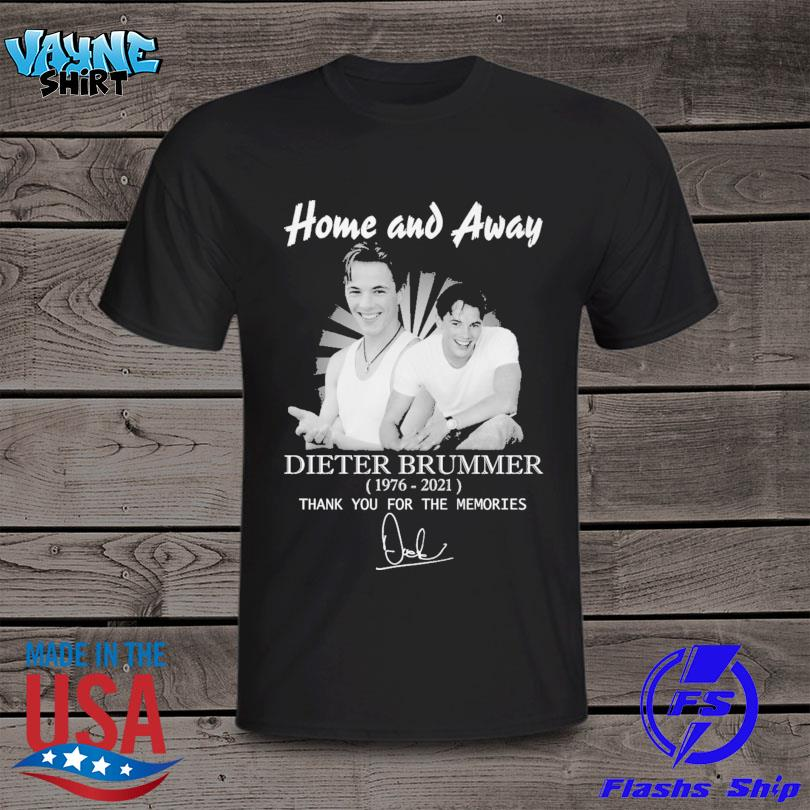 Home and Away Dieter Brummer 1976 2021 thank you for the memories signature shirt