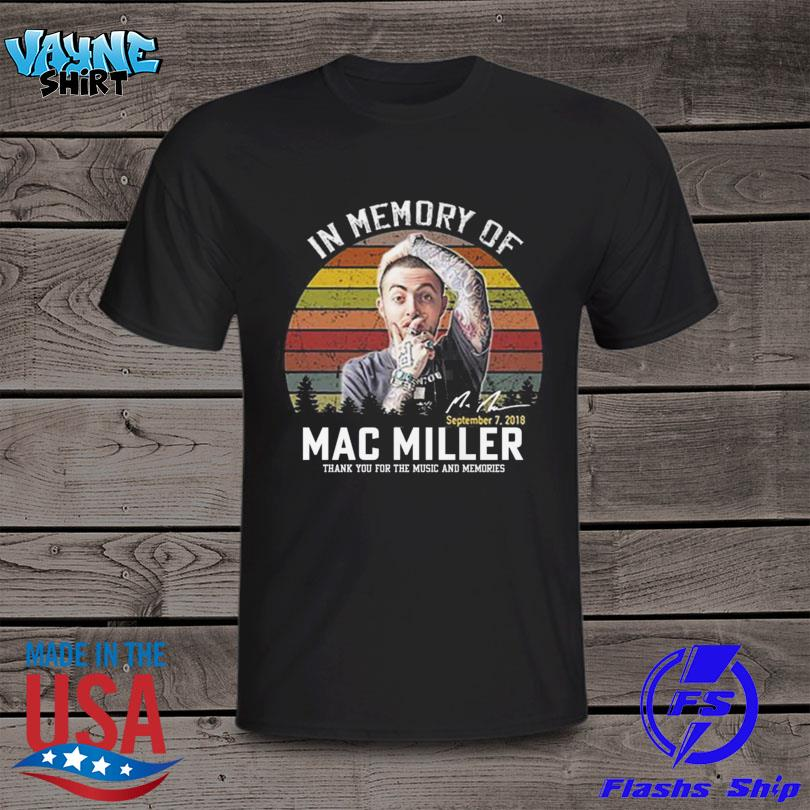 In memory of Mac Miller thank you for the memories signature vintage shirt