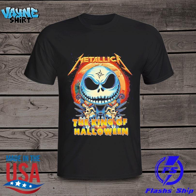 Jack Skellington Metallica The King Of Halloween shirt