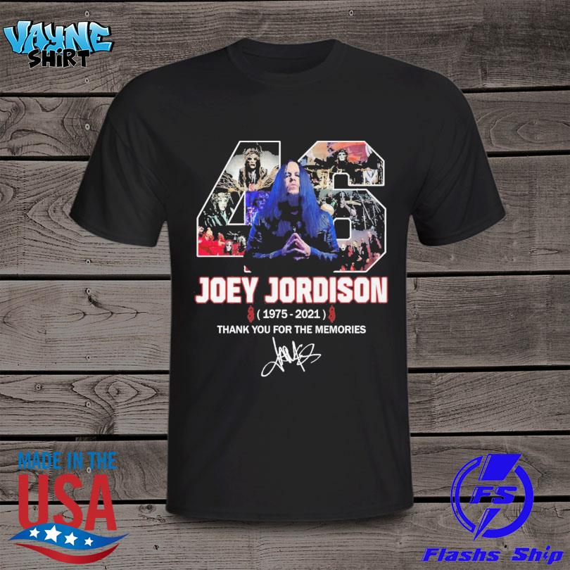 Joey Jordison1975 2021 thank you for the memories signature shirt