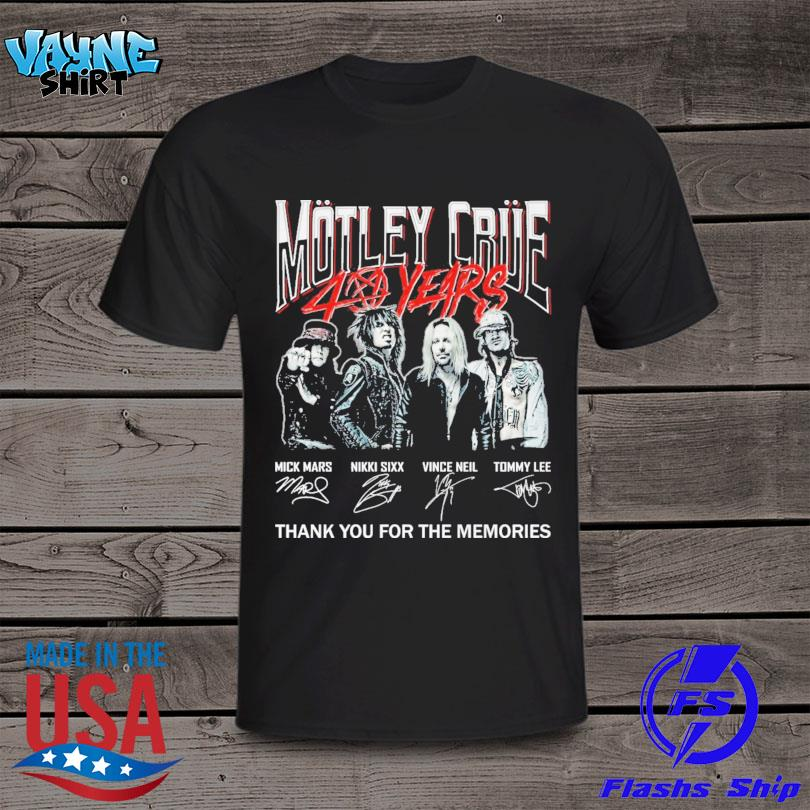 Motley Crue 40 years thank you for the memories signature shirt