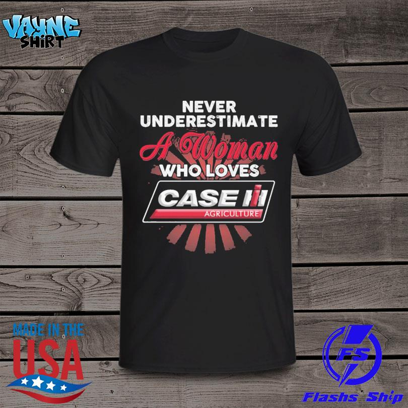 Never underestimate a woman who loves Case Corporation shirt