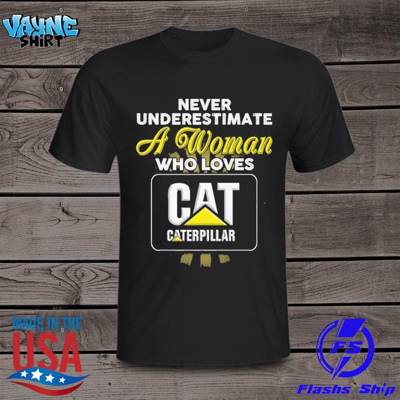 Never underestimate a woman who loves Caterpillar Inc shirt
