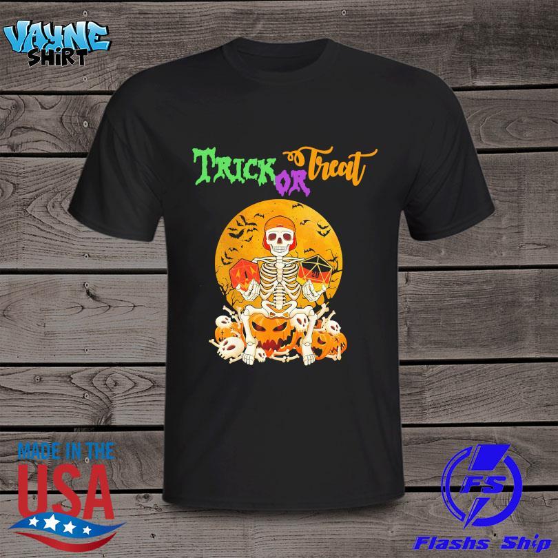 Skeleton Trick Or Treat Halloween Moon shirt