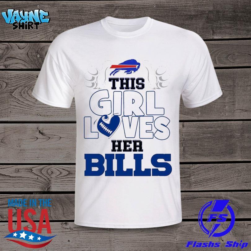 This girl loves her Bills shirt